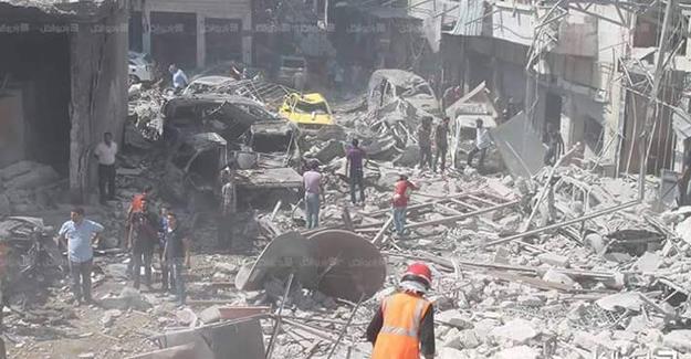 İdlib'e hava saldırısı: Ölü ve yaralılar var