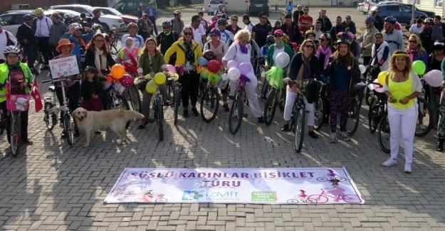 İzmit'te 'Süslü kadınlar' pedallara bastı