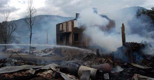 Kastamonu'da yangın: 1 köy yok oldu, 1 kişi hayatını kaybetti
