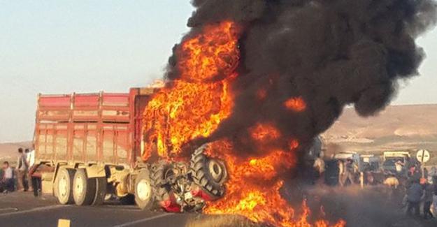 Tarım işçilerini taşıyan traktör ile kamyon çarpıştı: 1 ölü, en az 20 yaralı
