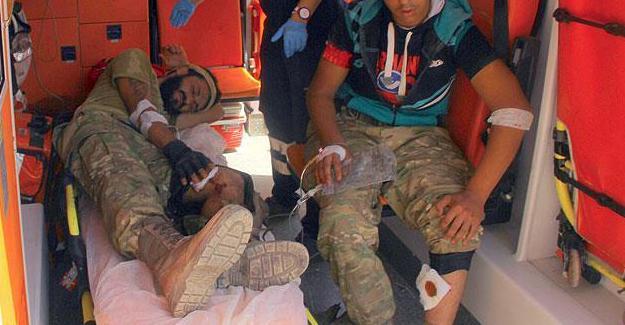 Yaralanan 13 ÖSO mensubu Kilis'e getirildi