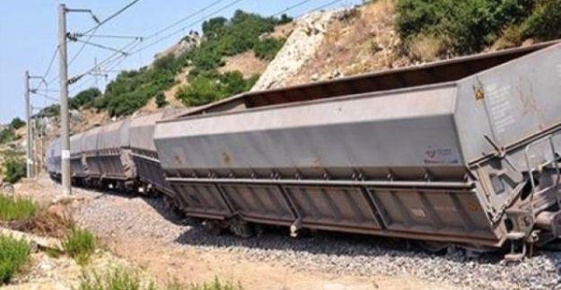 Yük treninin geçişi sırasında patlama