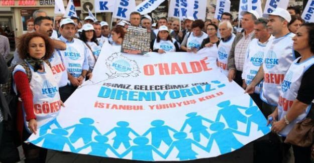 Ankara Valiliği tarafından mitingi yasaklanan KESK'ten tepki