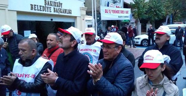Bakırköy Belediyesi'nde grev başladı