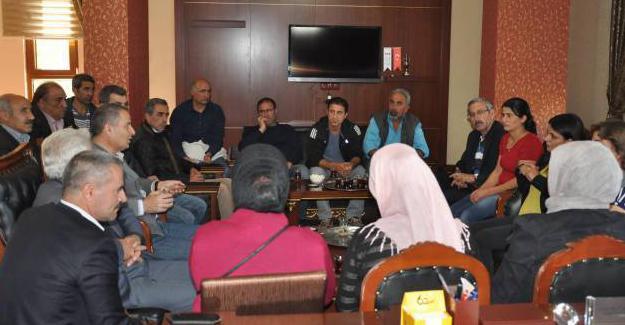 Dersim Eşbaşkanlarından Karakoçan Belediyesine destek ziyareti