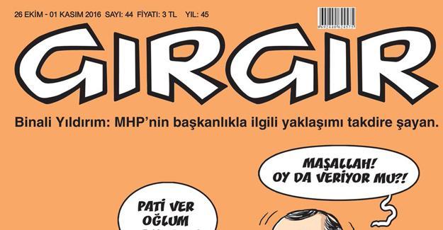 Devlet Bahçeli Gırgır'ın kapağında: Pati ver oğlum amcaya