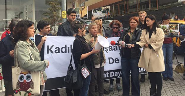 Kadıköy'de hafriyat kamyonu terörüne karşı eylem
