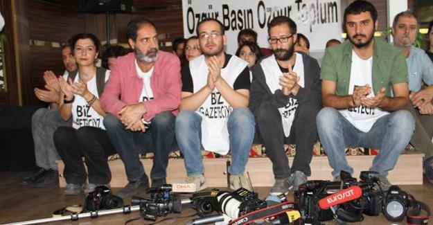 Kapatılan TV çalışanları Diyarbakır'da oturma eylemine başladı