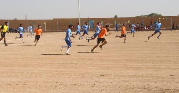 Minbic ve Tel Abyad kentlerinin 3 yıl aradan sonra ilk maçı