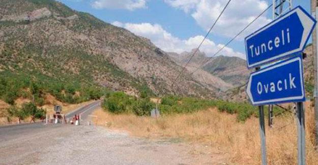 Ovacık'a giriş-çıkışlar yasaklandı