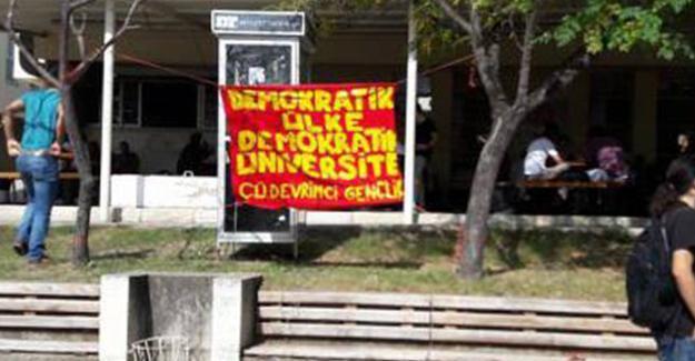 Pankart asarken gözaltına alınan 5 öğrenci tutuklandı