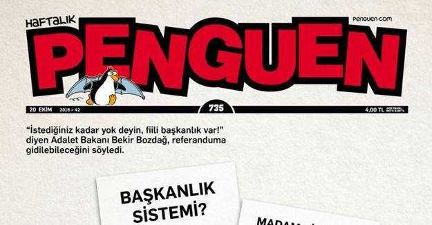 "Penguen'in kapağında ""evet-evet""li referandum"