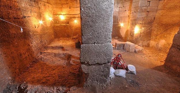 Ahır olarak kullanılan alan 1500 yıllık su sarnıcı çıktı