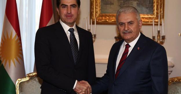 Başbakan Yıldırım Neçirvan Barzani ile görüştü