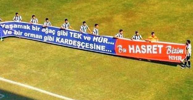 Fethiyespor'un Amedspor maçında açtığı pankarta ceza!