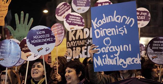 Kadınlar eylemde: Erkek devlet şiddetine karşı herHALde direniyoruz