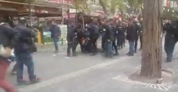 Konya'da ihraç kararını protesto eden akademisyenler gözaltına alındı