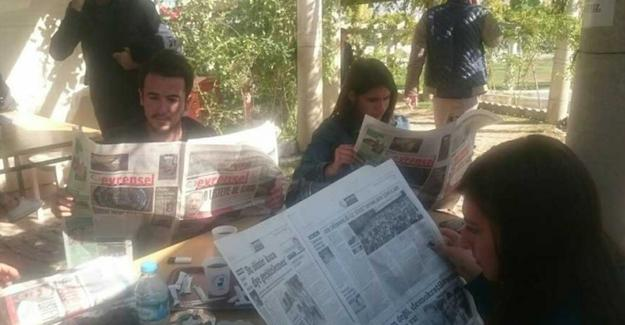 Pamukkale Üniversitesi'nde muhalif gazete dağıtımına engel!