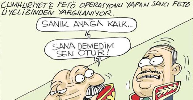 Sefer Selvi, Cumhuriyet operasyonunu çizdi: Sanık ayağa kalk