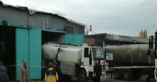 Akaryakıt tankerinde patlama: 1 ölü, 2 yaralı