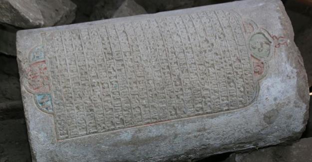 Harput'ta tarihi kitabe gün yüzüne çıkarıldı