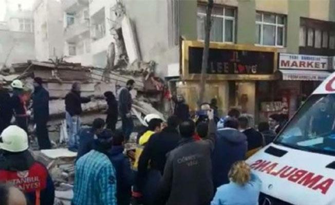 İstanbul Zeytinburnu'nda bina çöktü: Bir kişi hayatını kaybetti, yaralılar var