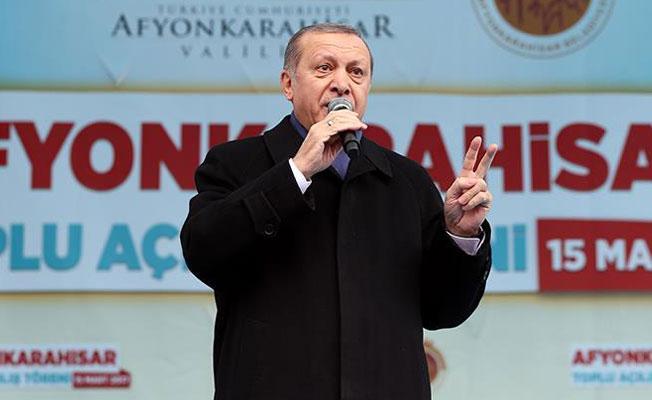 Erdoğan'dan AB'ye: Faşizmin ruhu Avrupa sokaklarında kol geziyor