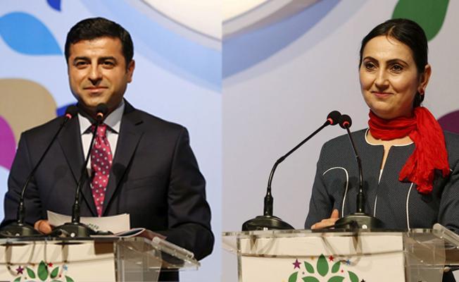 HDP Eş Genel Başkanları Demirtaş ve Yüksekdağ'dan gazetecilere mesaj