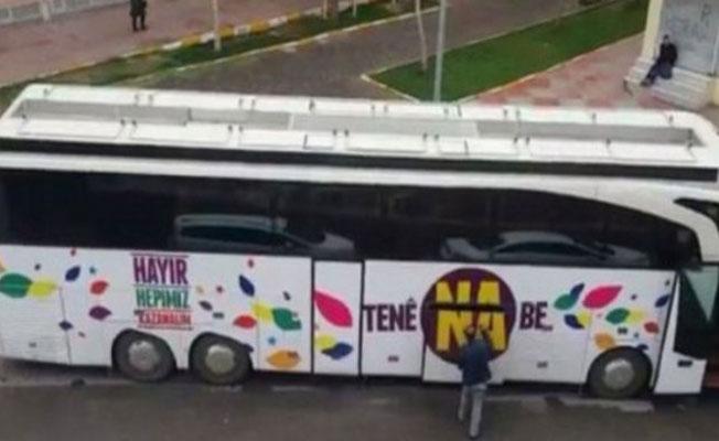HDP'nin seçim otobüsüne el konuldu