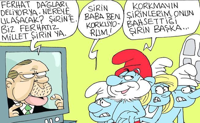 """Sefer Selvi, Erdoğan'ın """"Biz Ferhatız, sizler de Şirin"""" açıklamasını çizdi"""