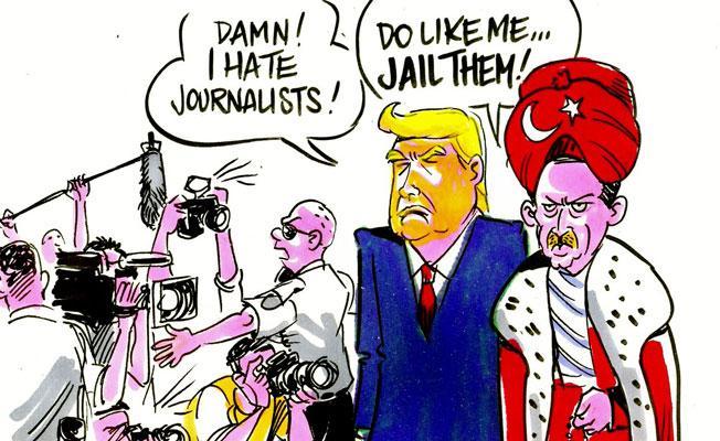 Latuff, Trump- Erdoğan görüşmesini çizdi