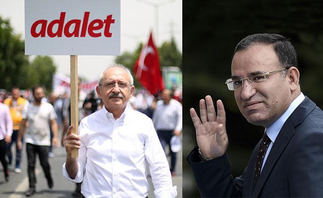 Bozdağ'dan Kılıçdaroğlu'na yürüyüş eleştirisi