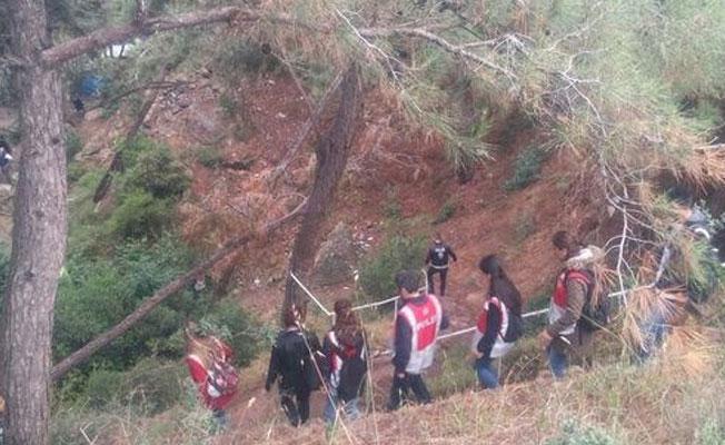 Burgazada'da kamp yapan gençlere helikopterli polis baskını