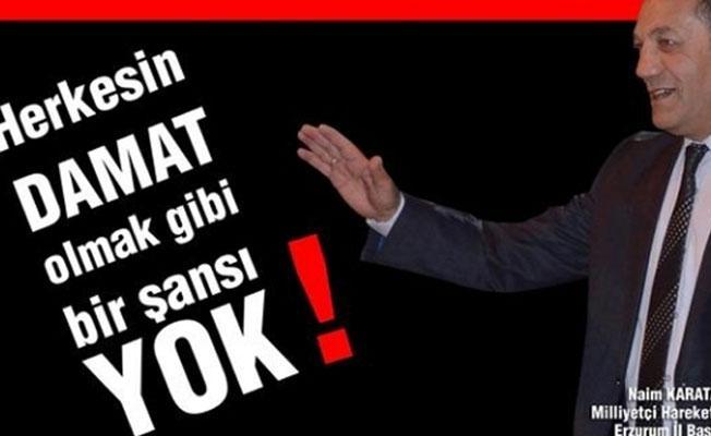 MHP'den 'damat' tepkisi
