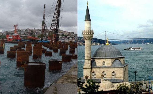Üsküdar'da denize çakılan kazıklar Mimar Sinan eserini 'çatlatacak'