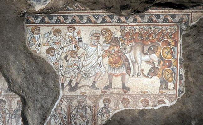 İsrail'de bulunan ilginç mozaik Büyük İskender'i betimliyor olabilir