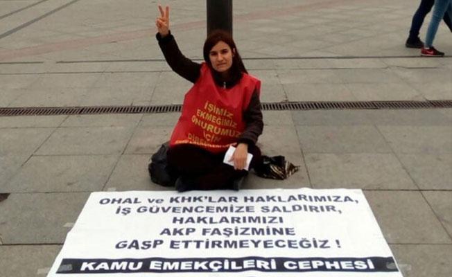 'İşimi istiyorum' eylemi yapan Nazife öğretmen tutuklandı