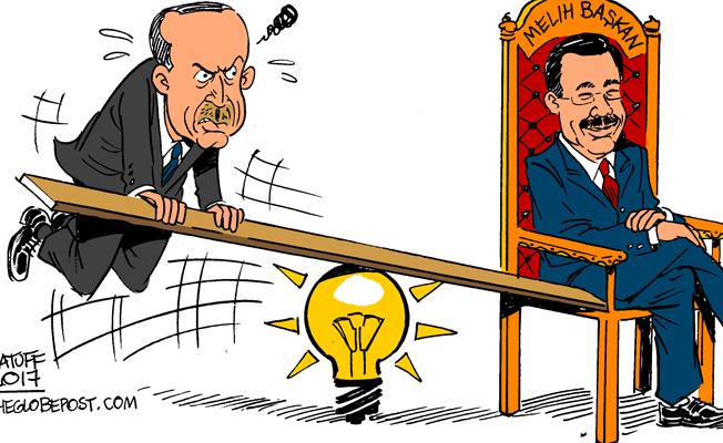 Latuff, Erdoğan-Gökçek gerilimini çizdi