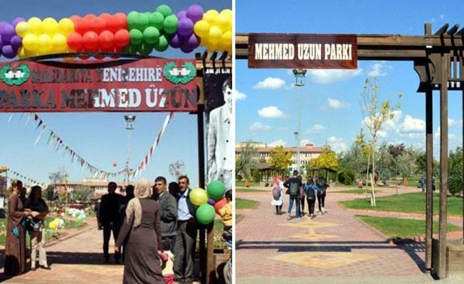 Mehmed Uzun Parkı'nın Kürtçe tabelası, Türkçe olarak asıldı
