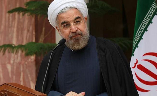 Ruhani: Trump'ın sözleri İran'a lanet okumaktır