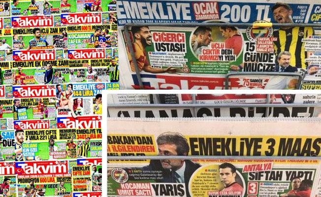 Takvim Gazetesi'nin 'emekli sömürüsü' sobelendi