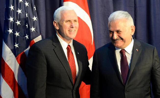 Başbakan Yıldırım ve ABD Başkan Yardımcısı Pence görüşmesi sona erdi
