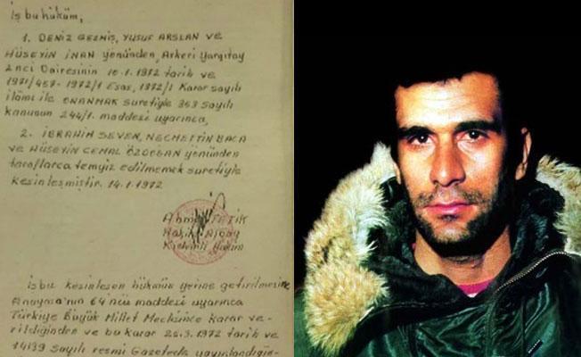 Deniz Gezmiş'in idam hükmünü 47 bin 500 liraya satın aldı: Yırtıp atacağım