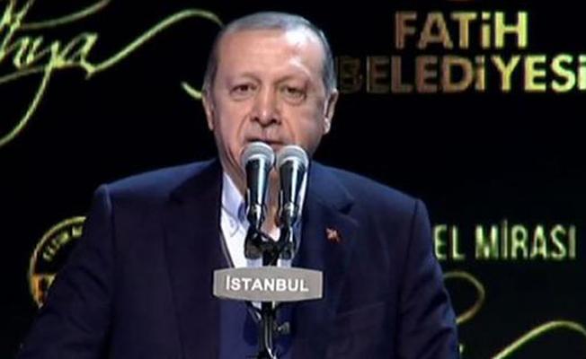 Erdoğan: Şehirlerimiz zevksiz binaların istilasına uğradı