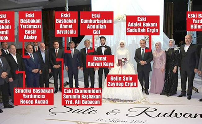 Eski kabine düğünde buluştu, hükümetten tek kişi katıldı