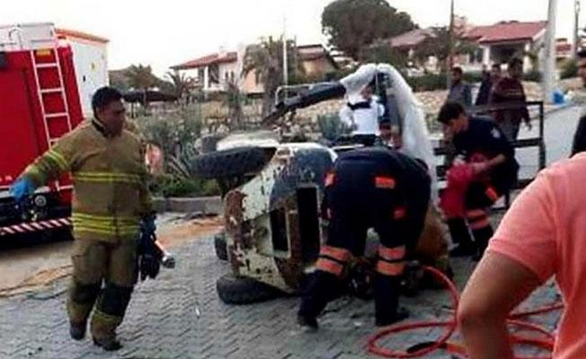 İzmir'de devrilen forkliftin altında kalan operatör öldü