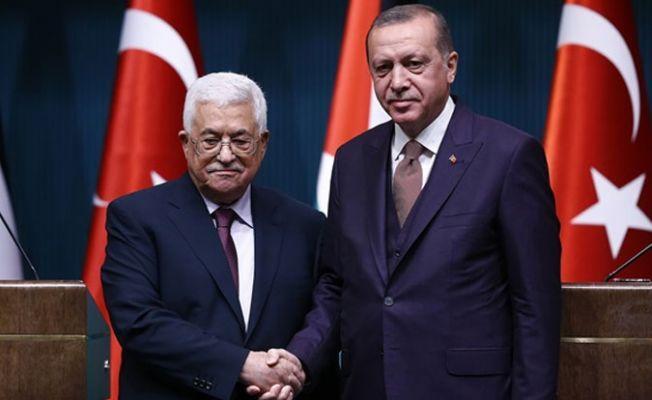 Cumhurbaşkanı Erdoğan, Filistin Devlet Başkanı Abbas ile bir araya geldi