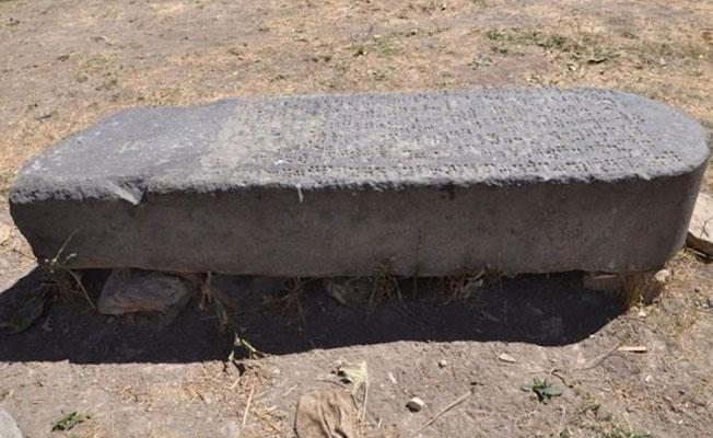 Van'da Urartu kralına ait stel bulundu