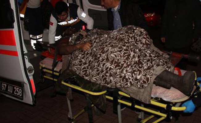 Zonguldak'ta bir madencinin bacağı koptu