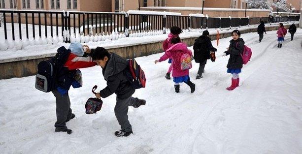 27 ilde okullara kar tatili